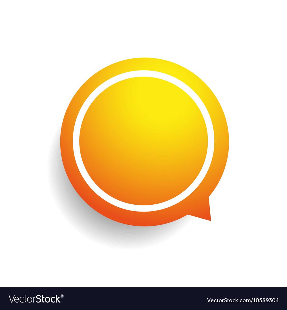 Speech bubble orange