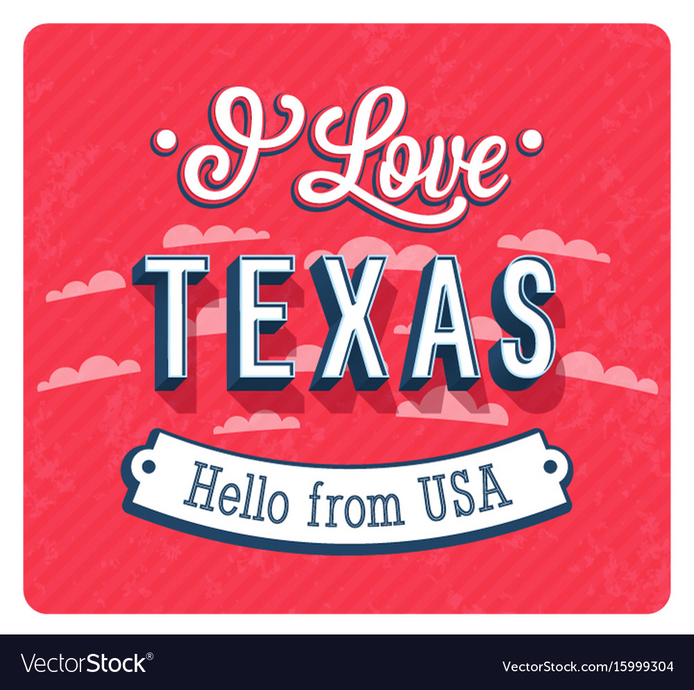Vintage greeting card from texas vector image