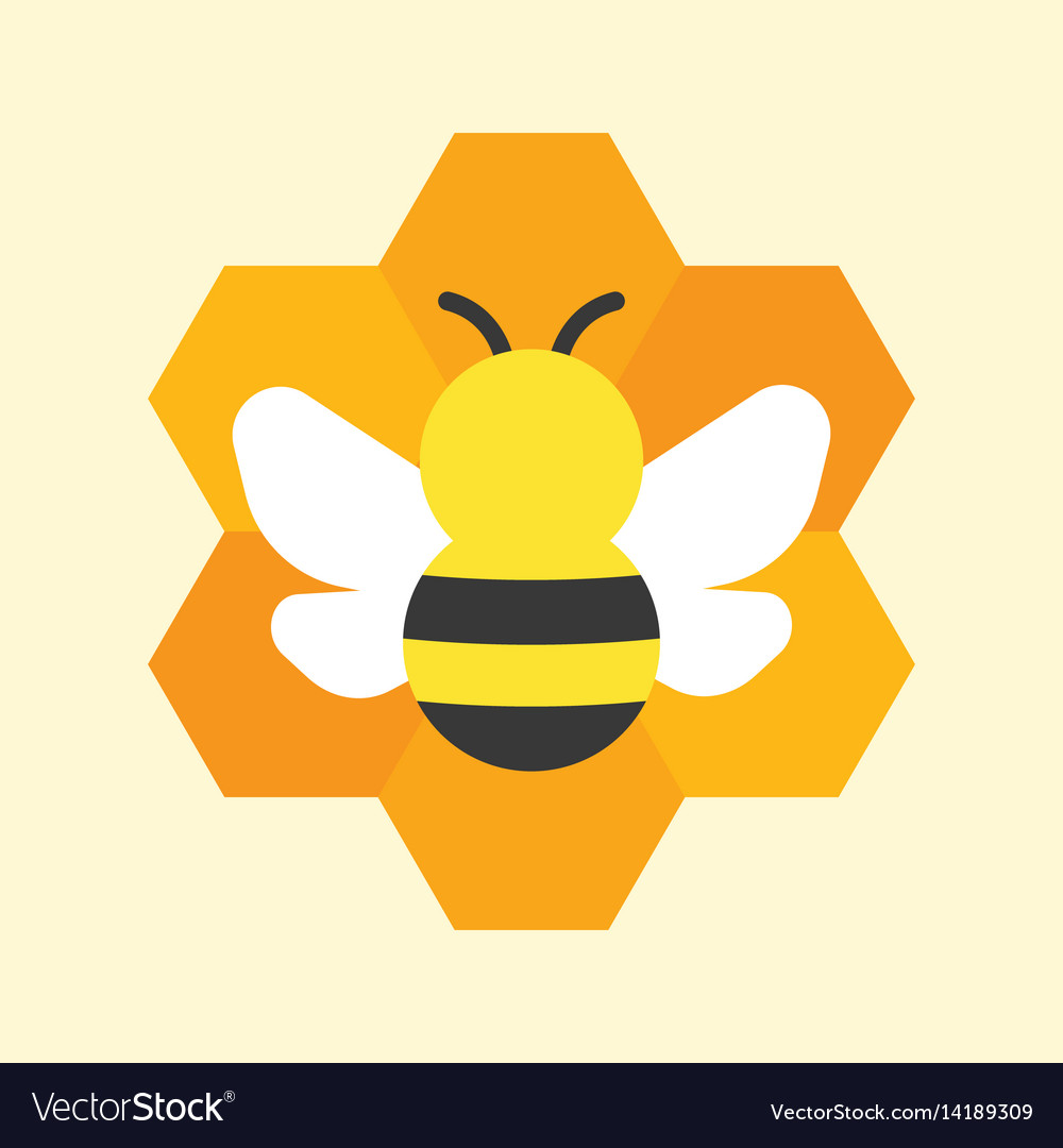 Bee and honeycomb icon