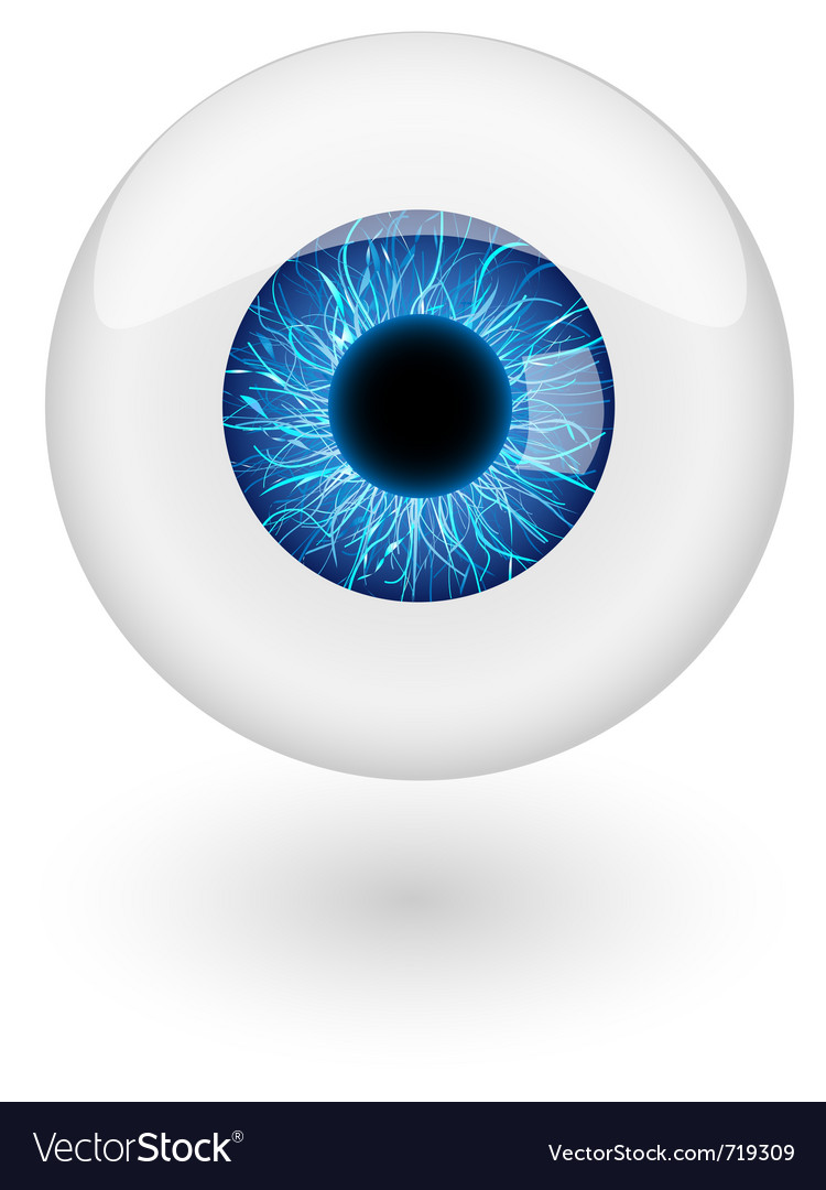 Blue eyebal vector image