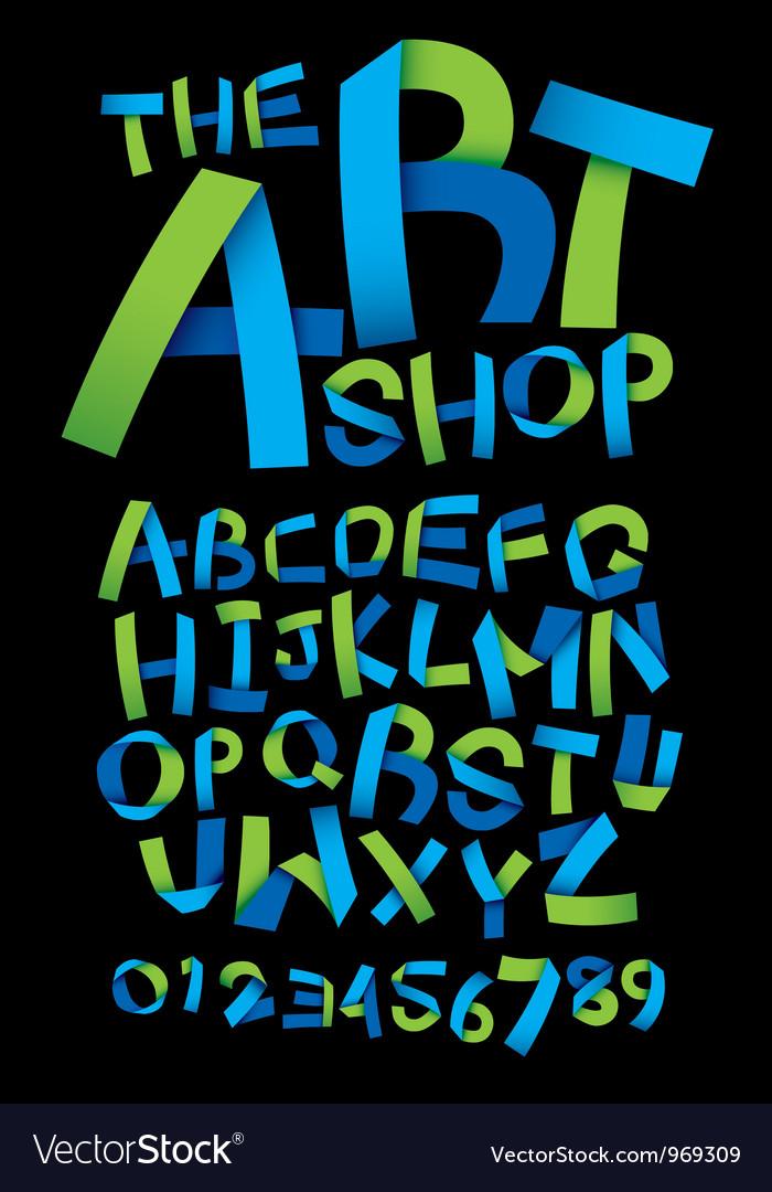 Craft Ribbon Font vector image