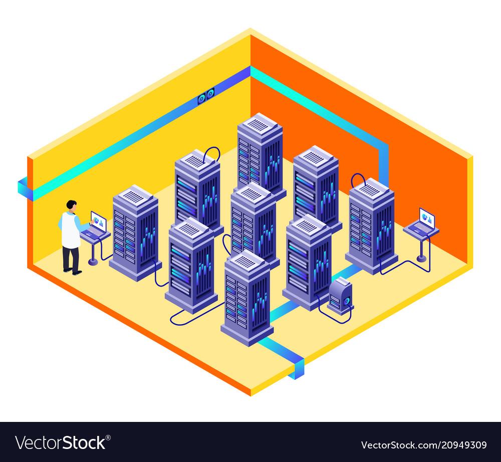 Man data storage center maintenance