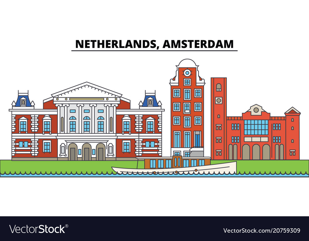 Netherlands amsterdam city skyline architecture