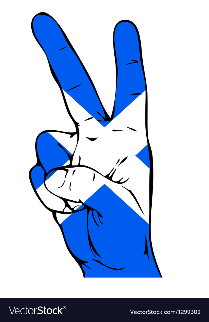 Peace Sign Of The Scottish Flag Royalty Free Vector Image