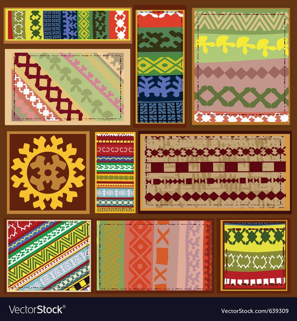 Siberian ethnic patterns vector image