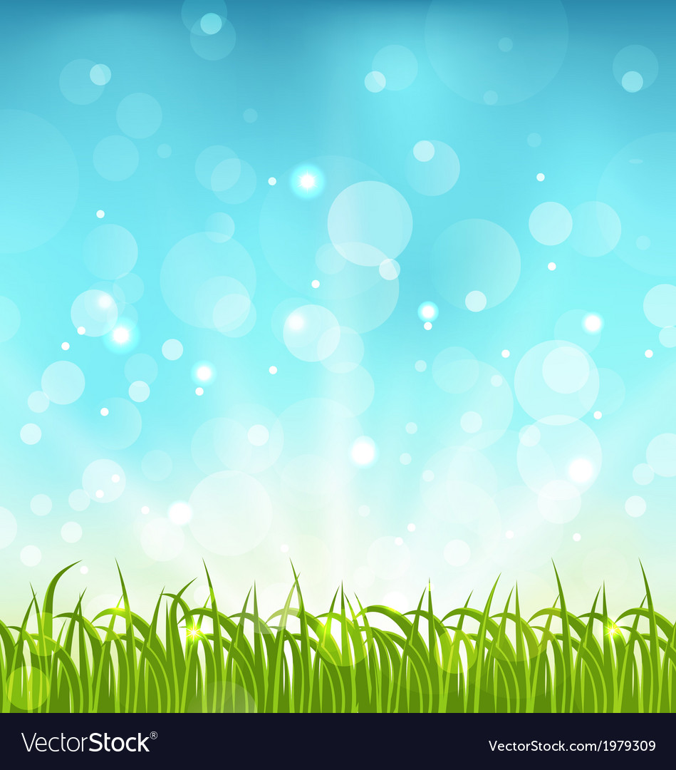 Cool Spring Wallpapers: Summer Nature Background With Grass Royalty Free Vector