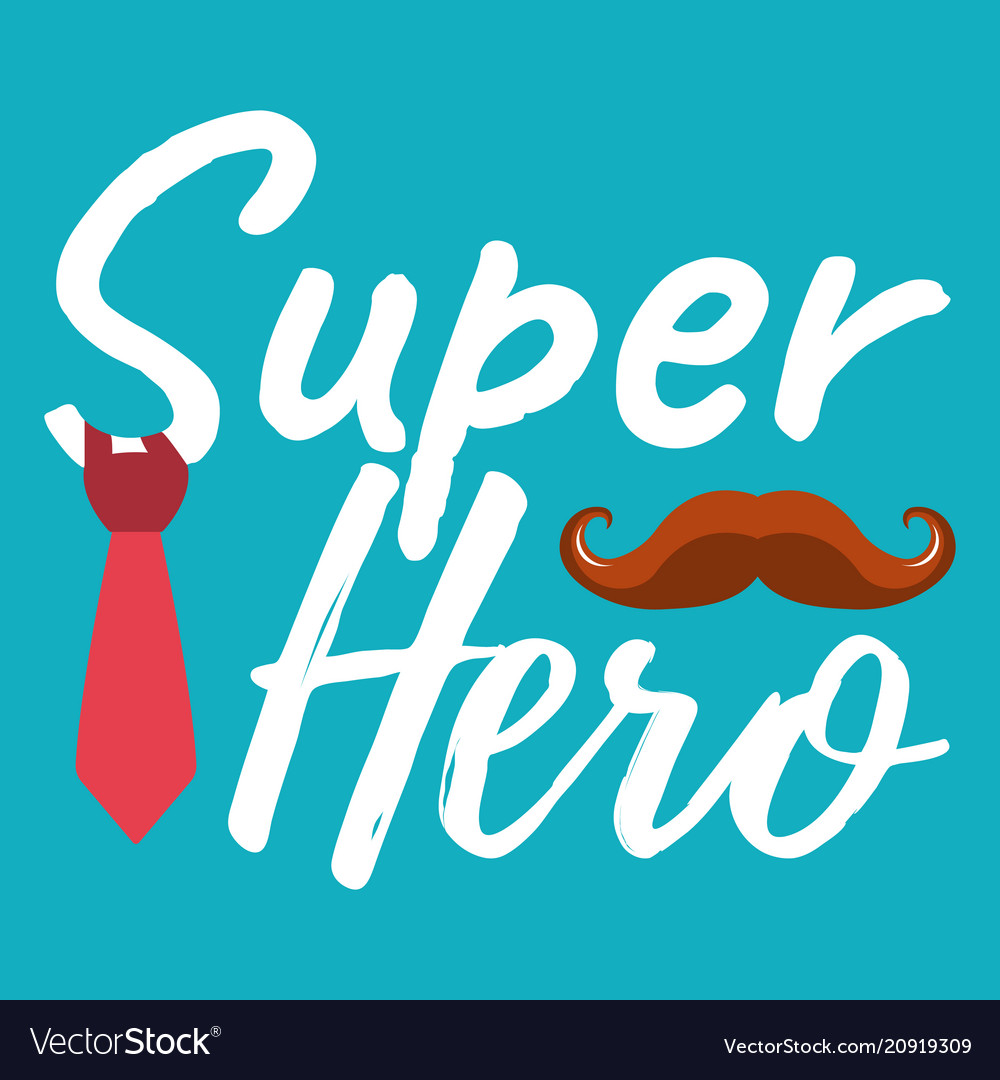 Super hero banner and giftcard fathers day poster