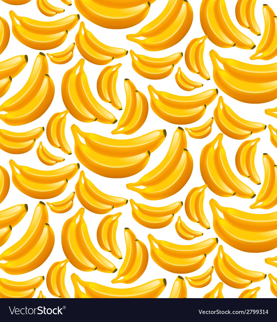 Banana seamless pattern vector image