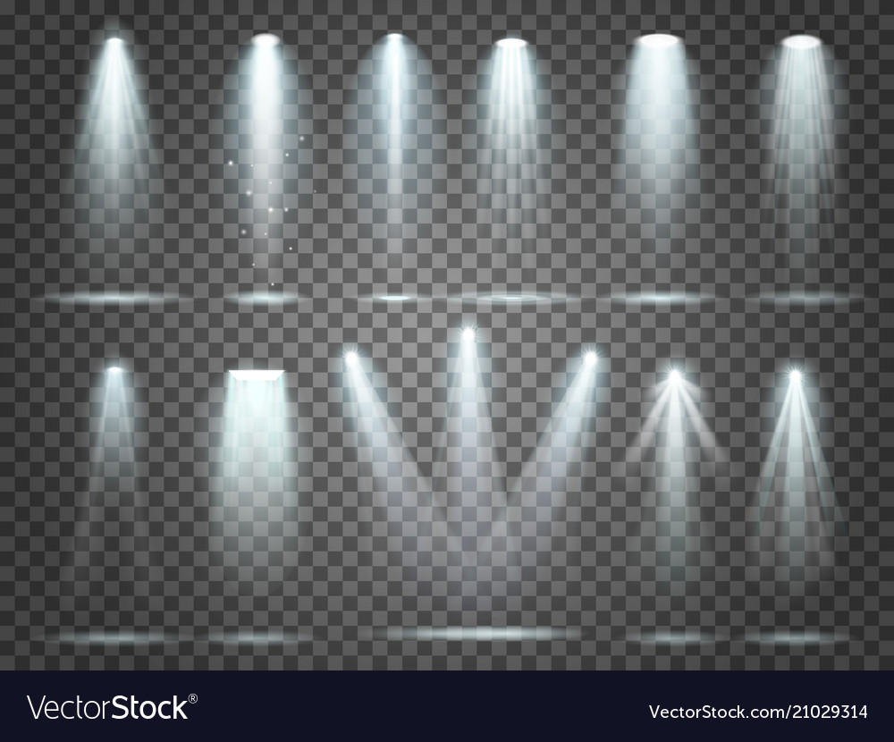 Beam of floodlight illuminators lights stage