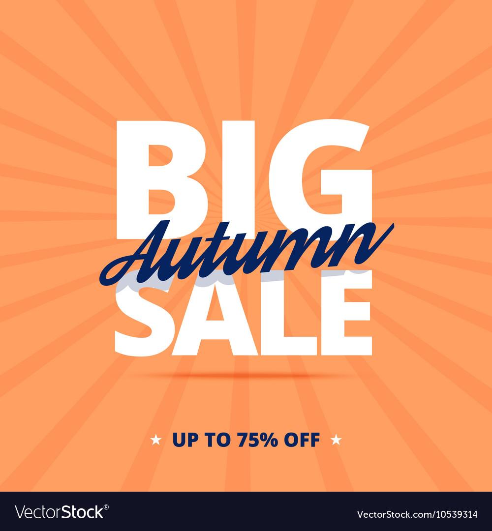 Big autumn sale poster vector image