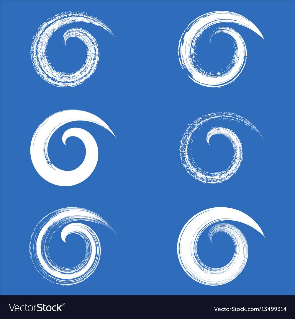 Brush strokes spirals