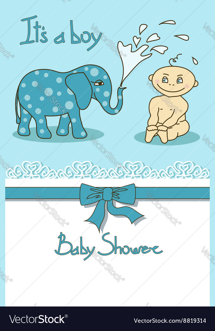 Cute Baby Shower Card Royalty Free Vector Image