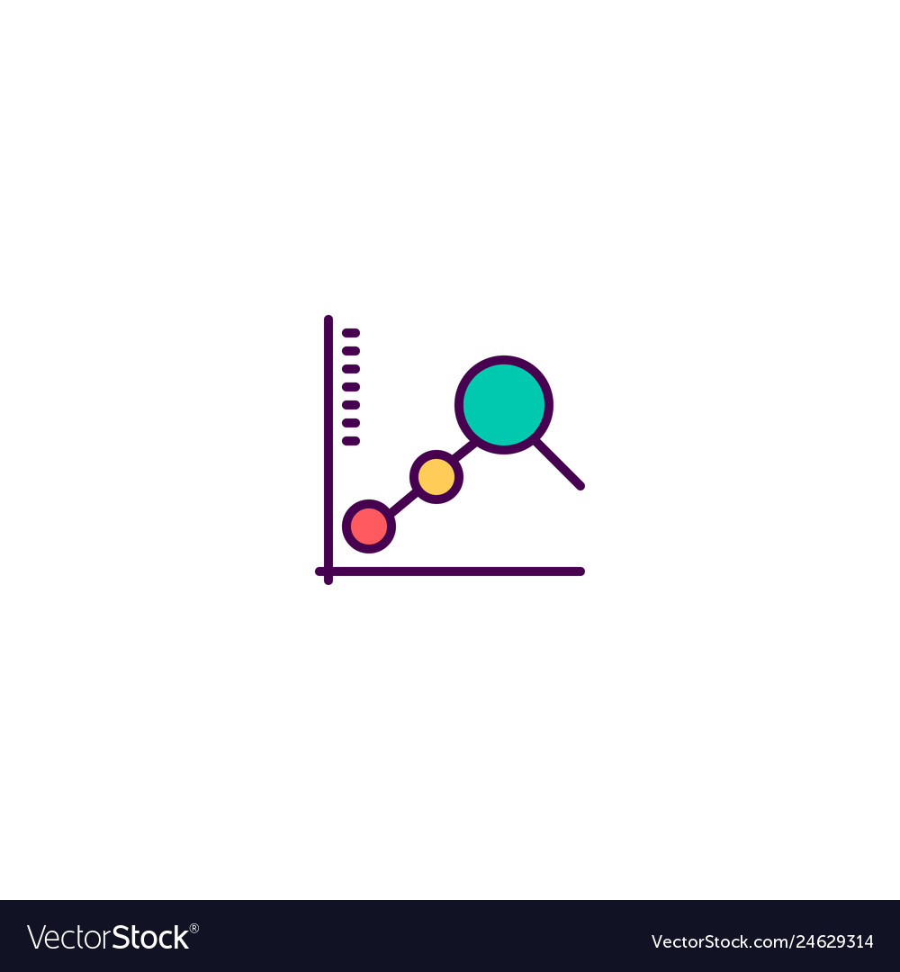 Line chart icon design marketing icon design