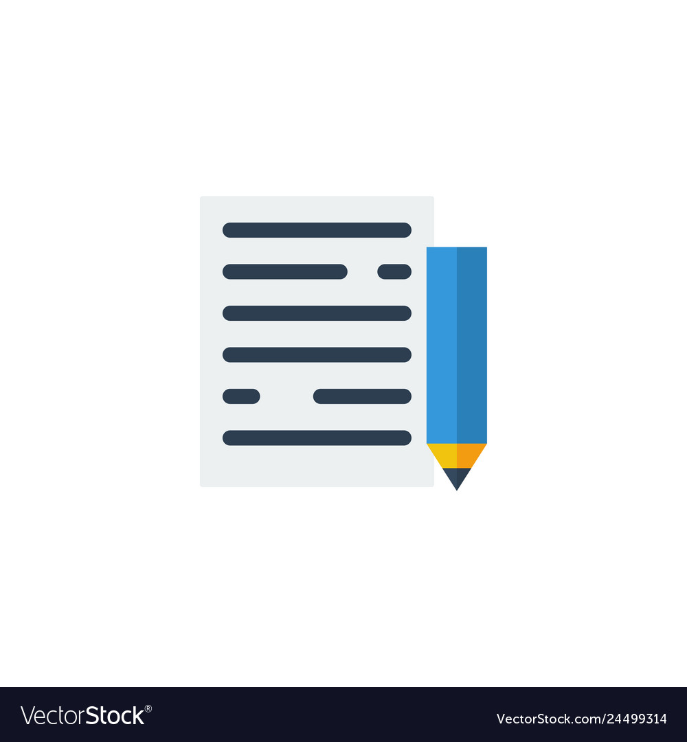 Notepad and pencil icon