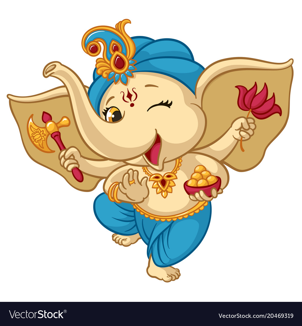 Ganesha elephant cartoon baby