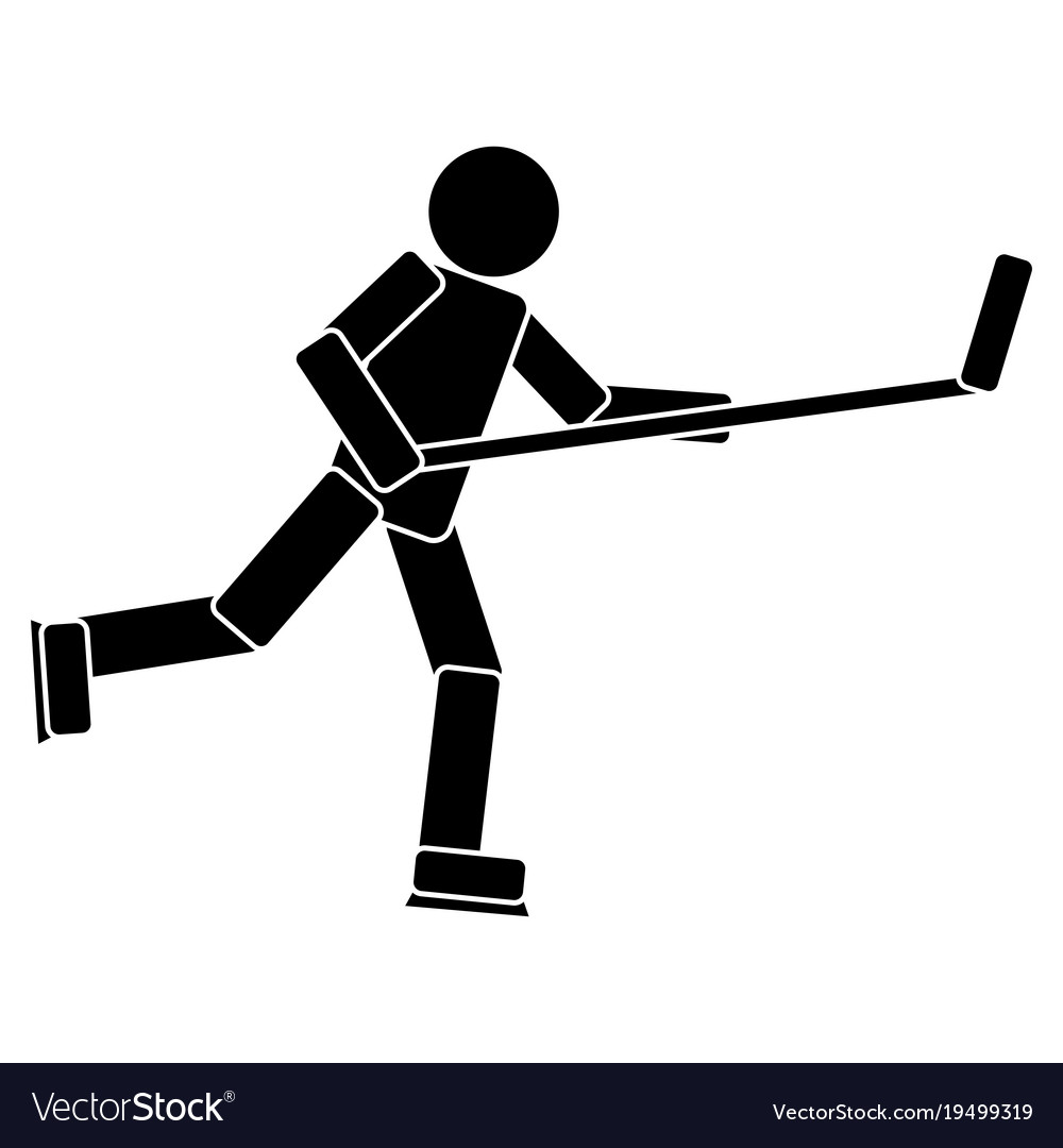 Hockey player pictogram