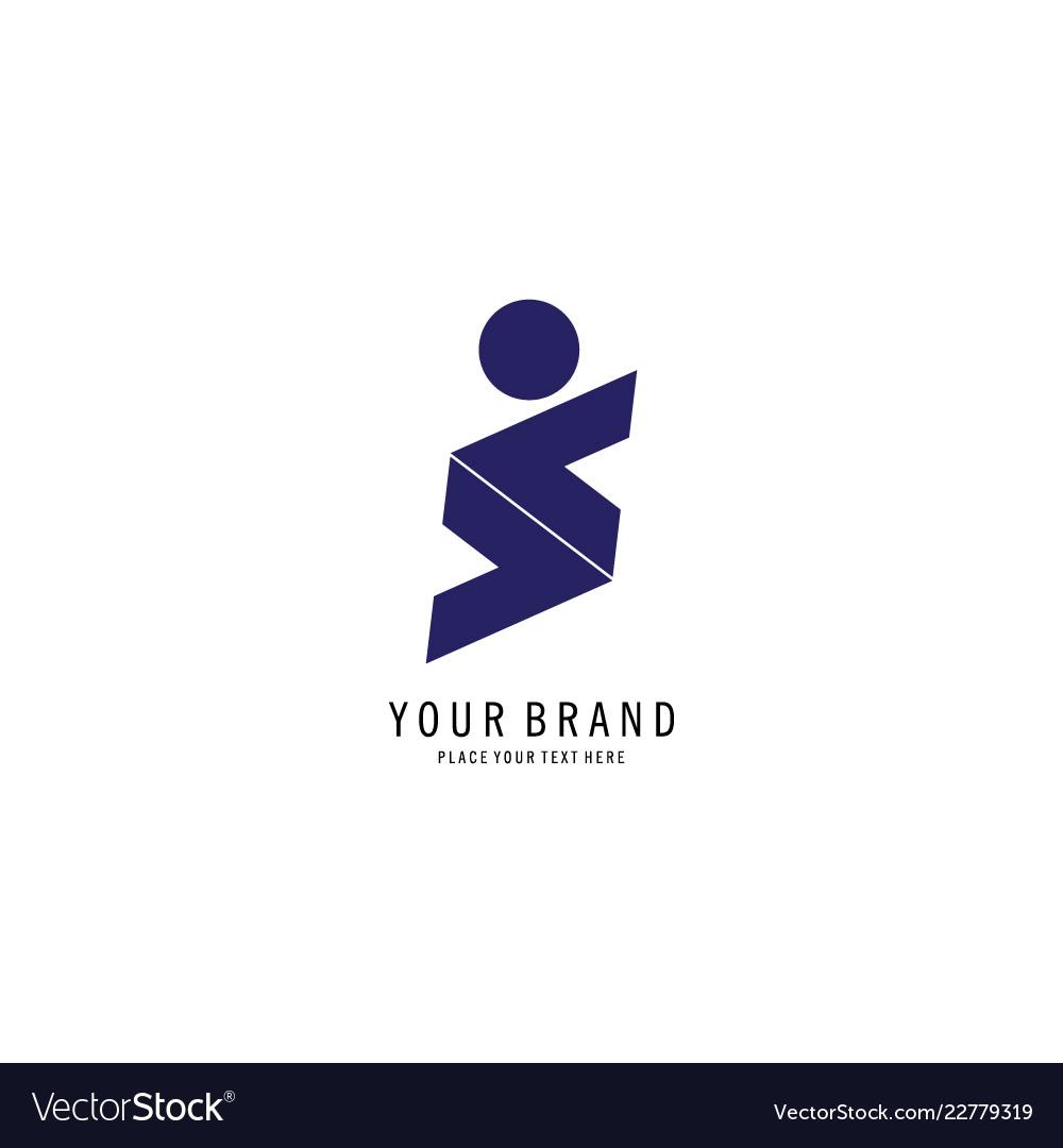 Letter s people logo