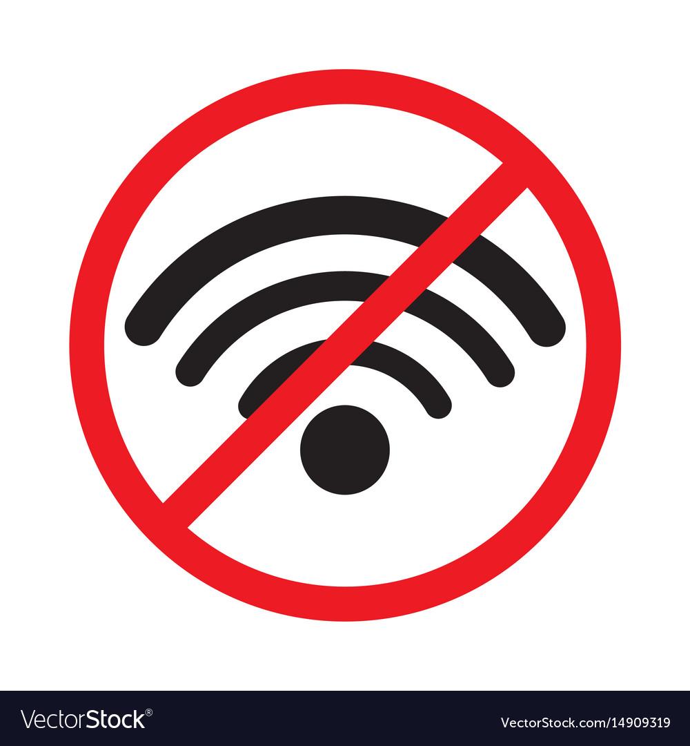 No signal sign no signal area no wi fi area