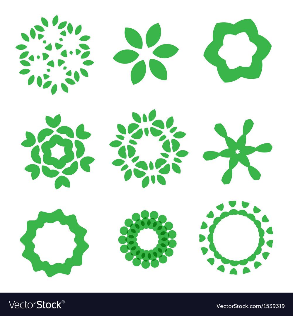 Organic design elements set
