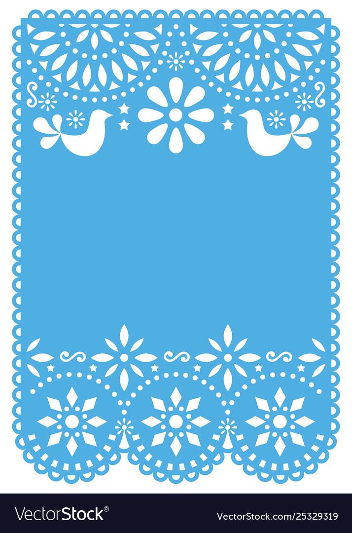 Papel picado wedding invitation or greeting card