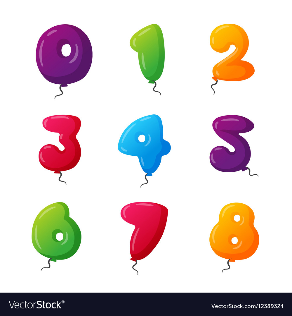 Balloon numbers set