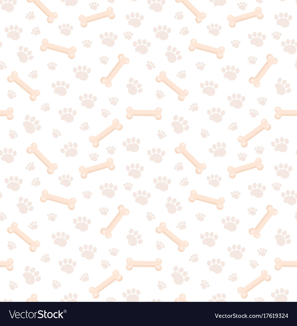 Dog bones seamless pattern bone and traces of