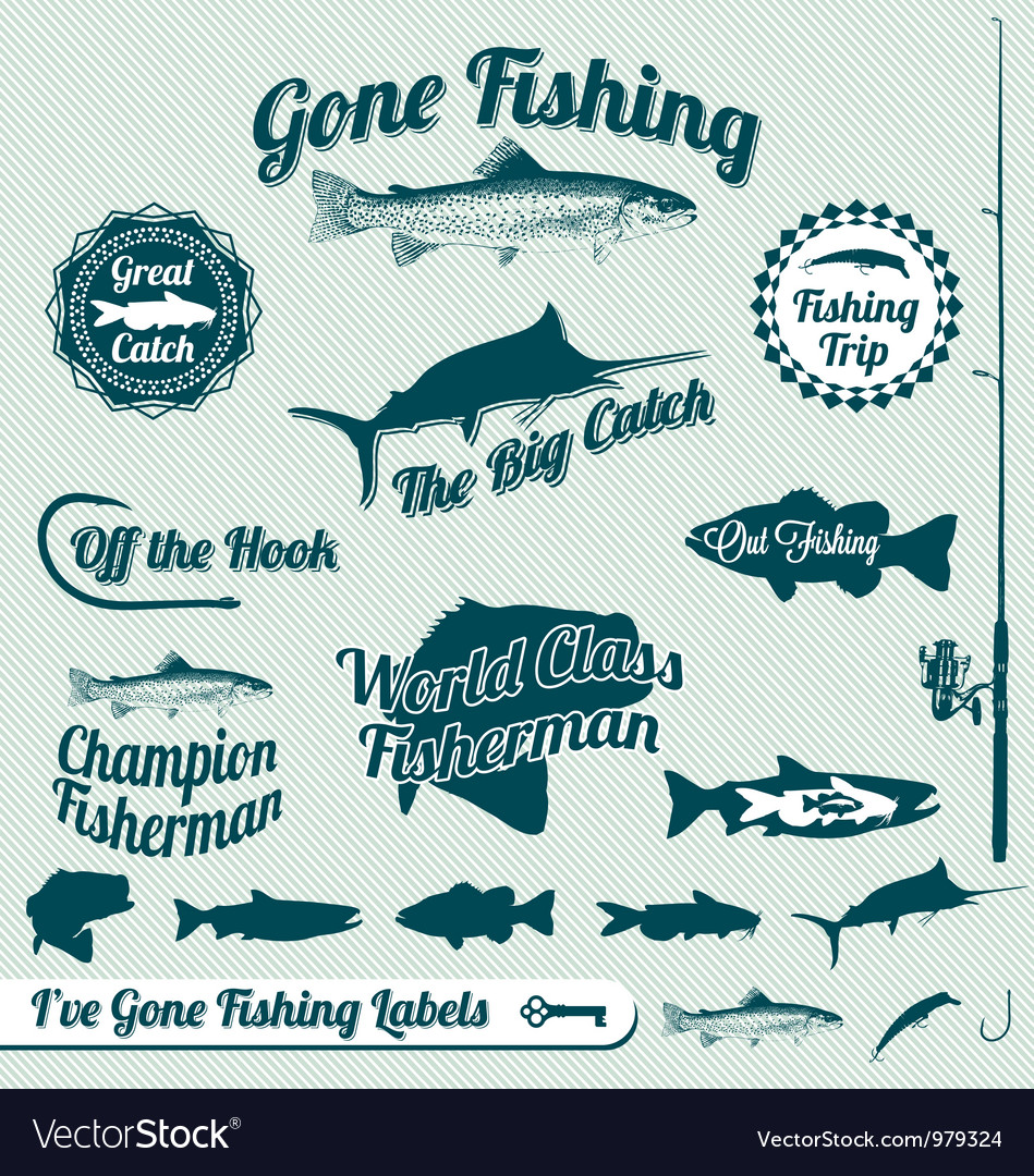 Gone Fishing Labels