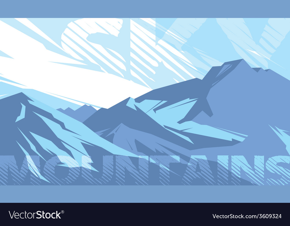 MOUNTAINS SKY vector image