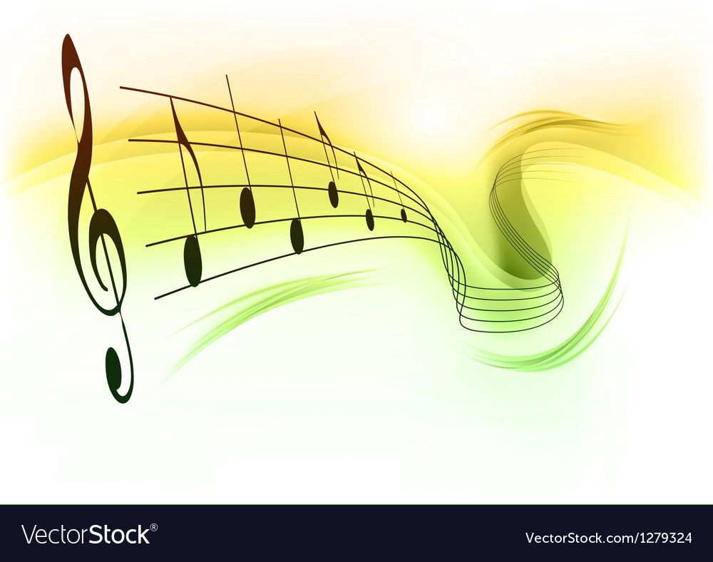 Music note background white green