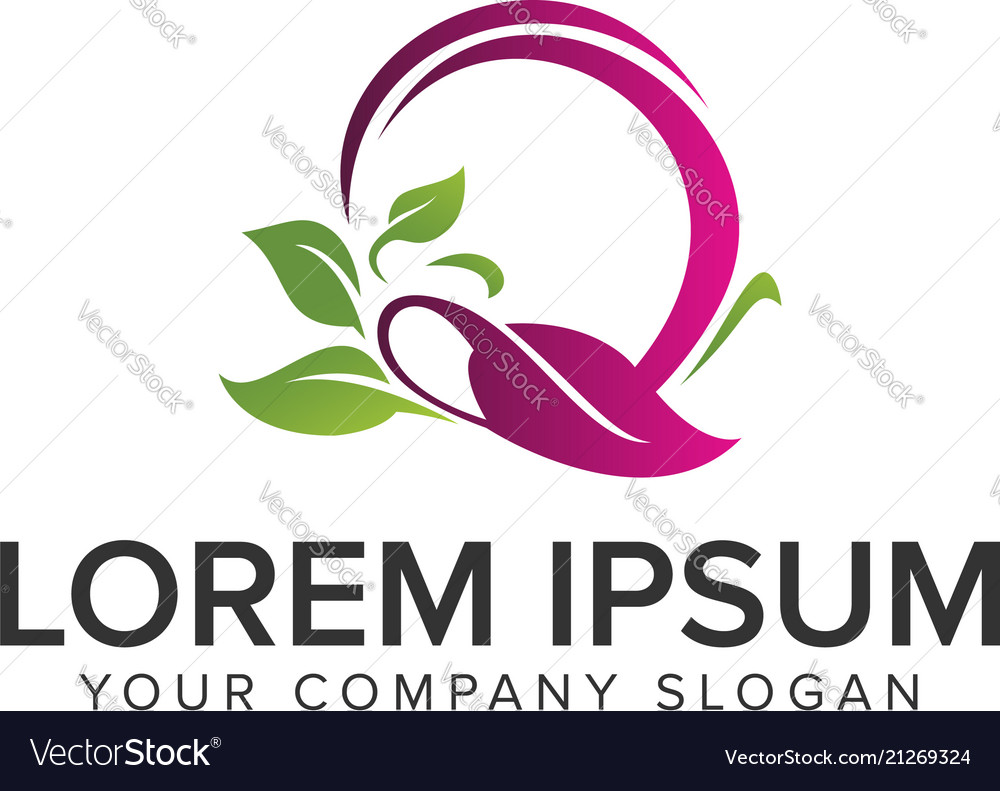Spa green nature logo design concept template