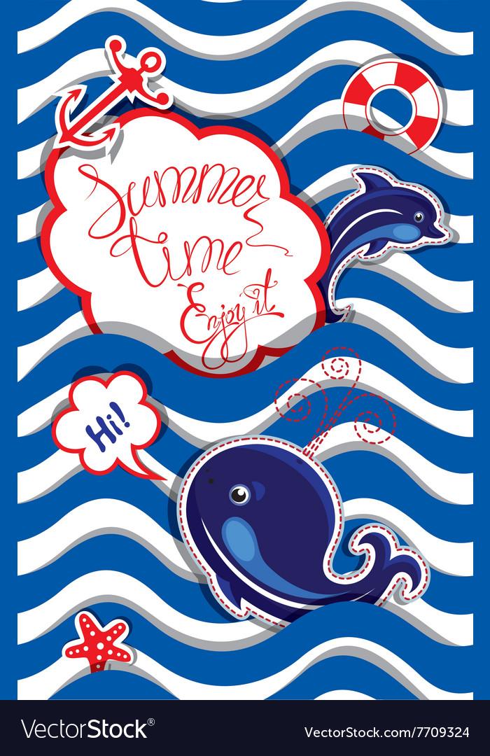 Summer card striped 4 380