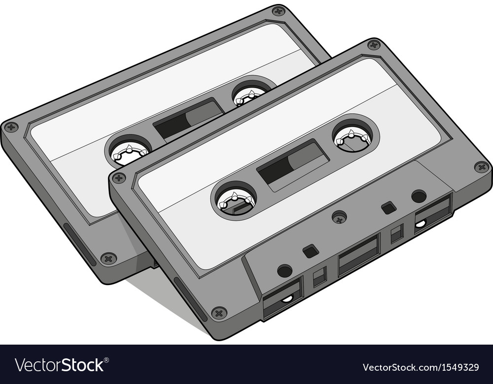 Audio tape vector image