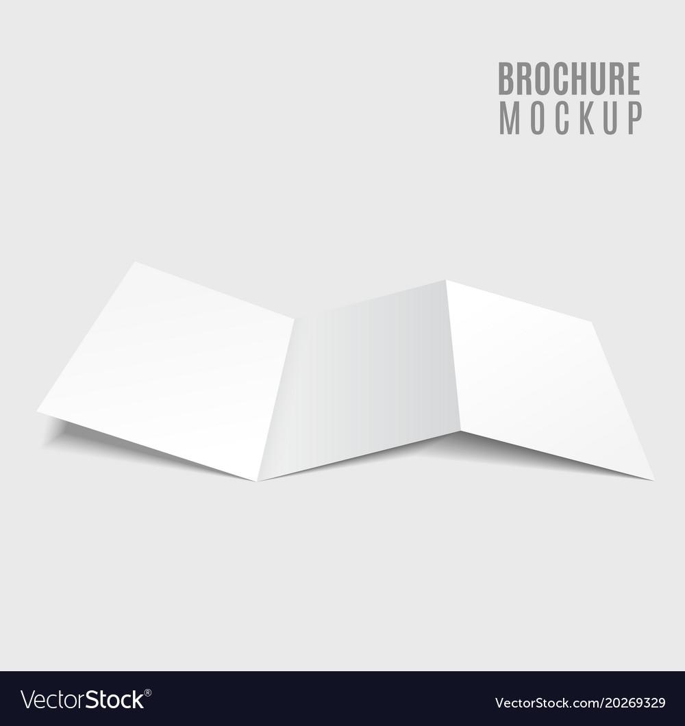 blank tri fold brochure design isolated on grey vector image