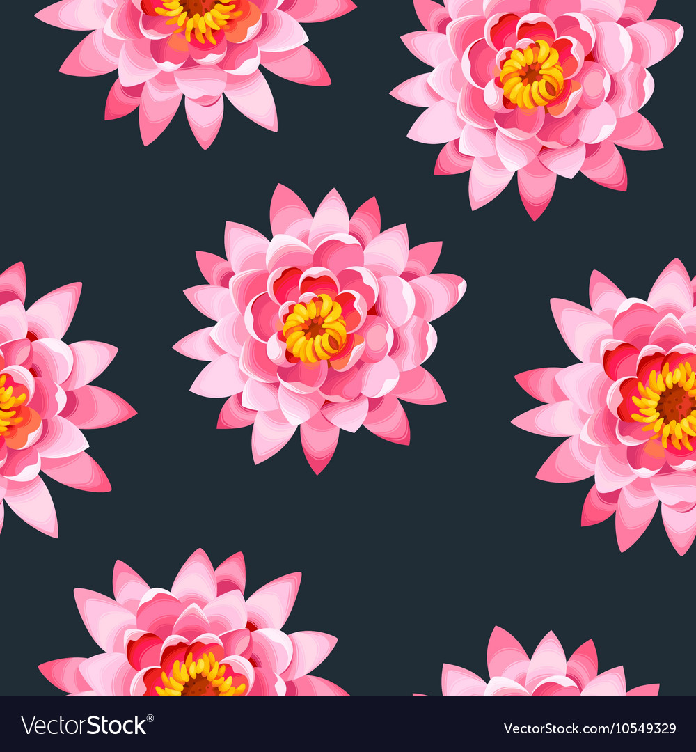 Blooming lotus seamless vector image
