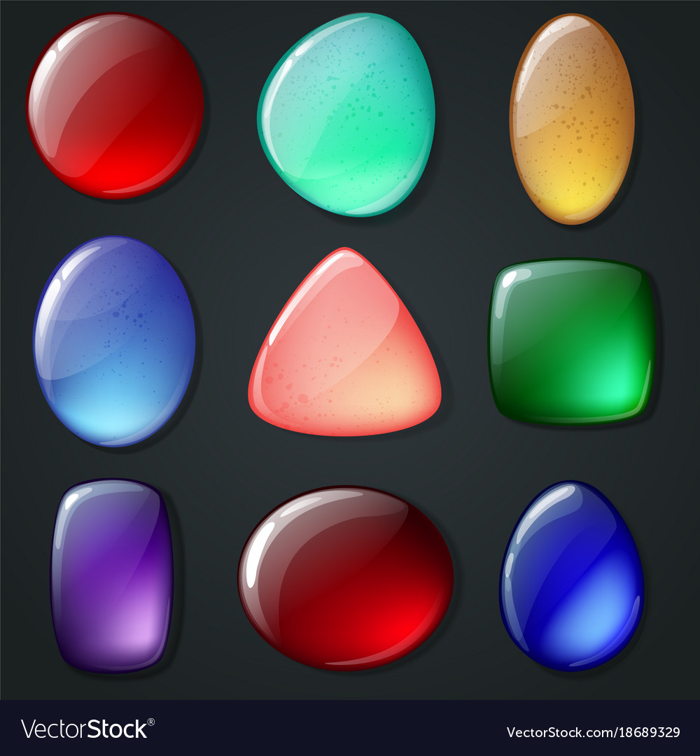 Bright realistic gemstones set vector image