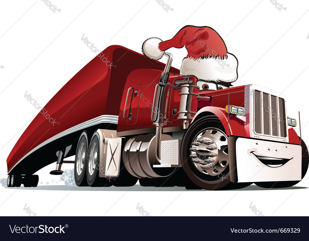 Christmas truck Royalty Free Vector Image - VectorStock