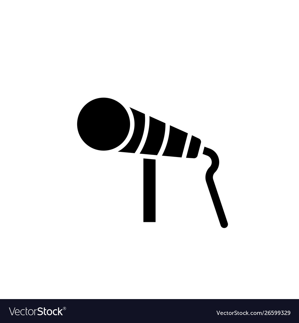 Flat microphone record glyph icon symbol sign