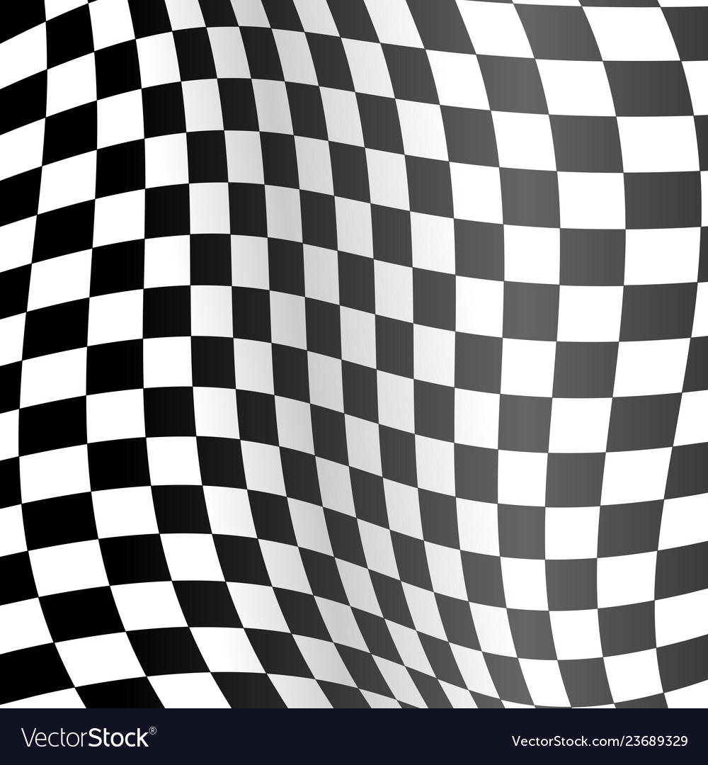 Realistic detailed 3d racing wavy flag background