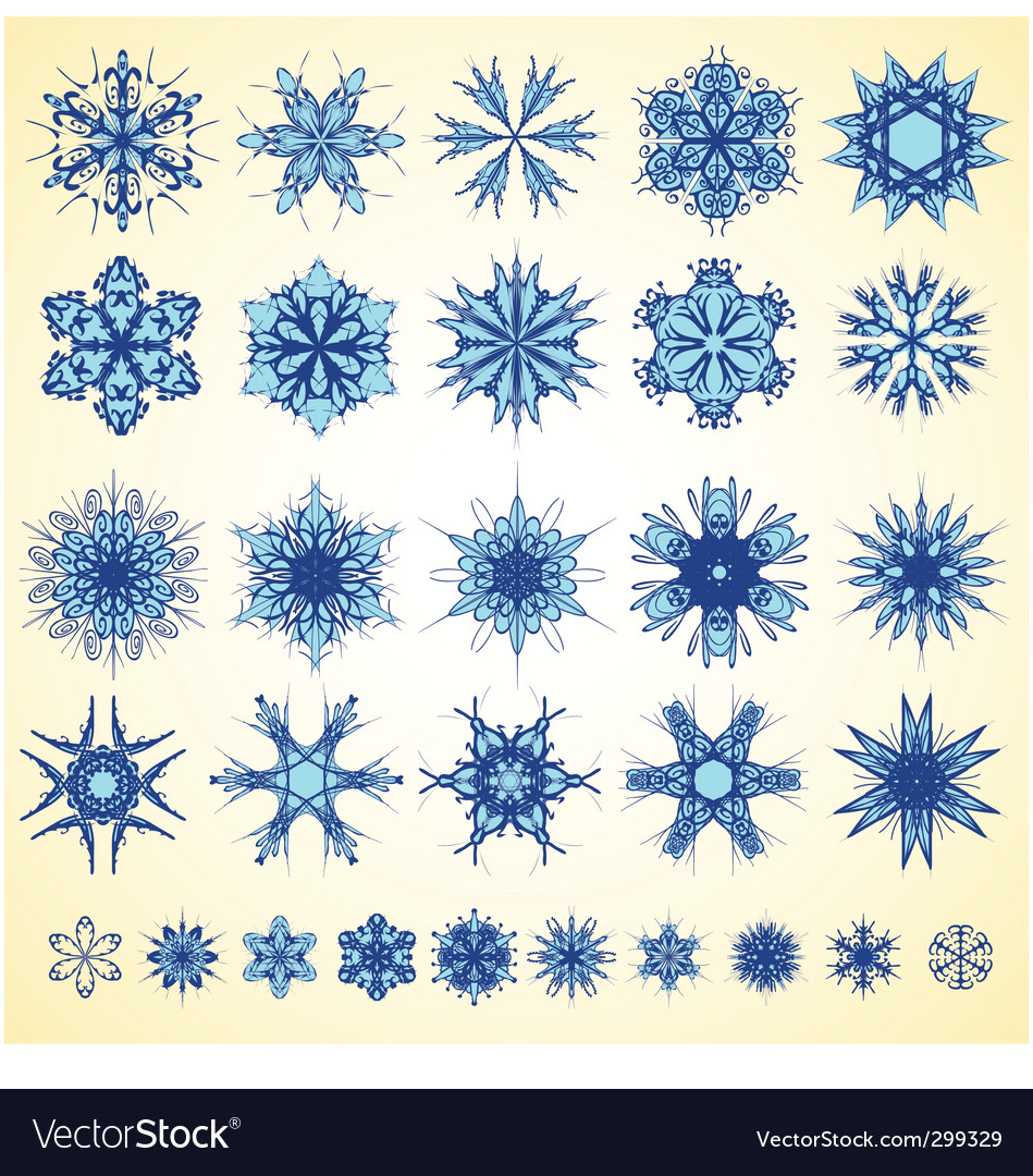 Snowflake design collection