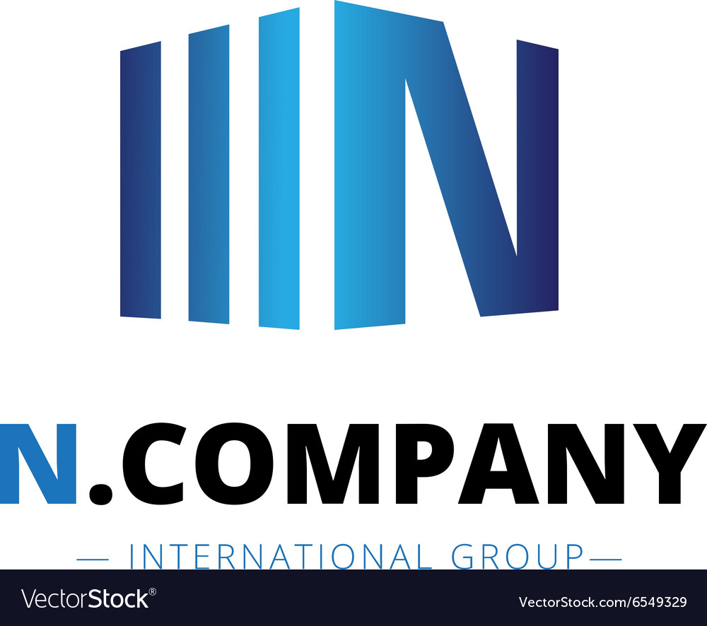 Trendy isometric N letter logo
