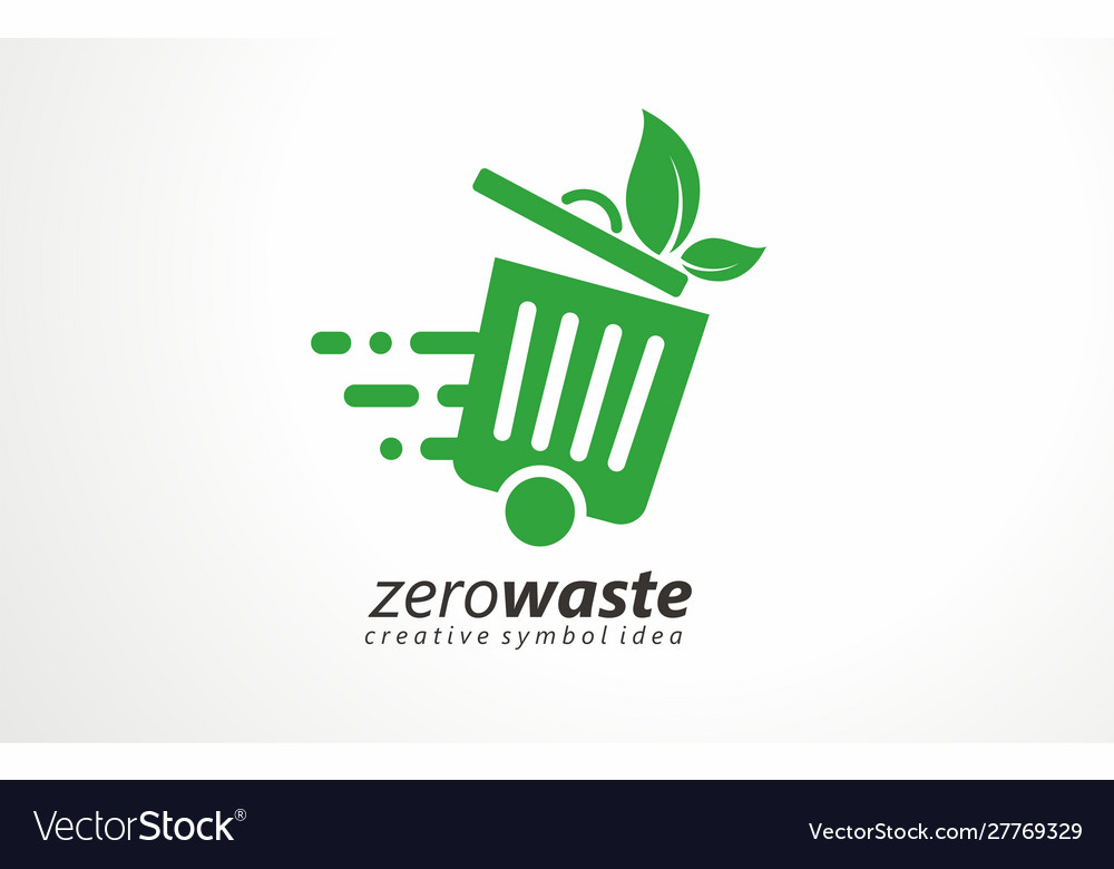 Waste collect logo design recycling