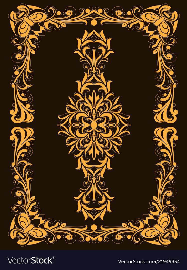 Decorative vintage frame or border to be printed