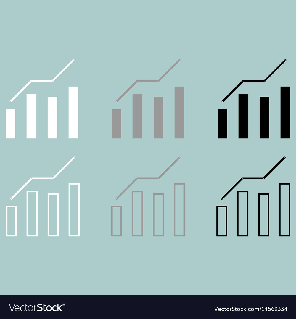 Diagram of the growth icon vector image