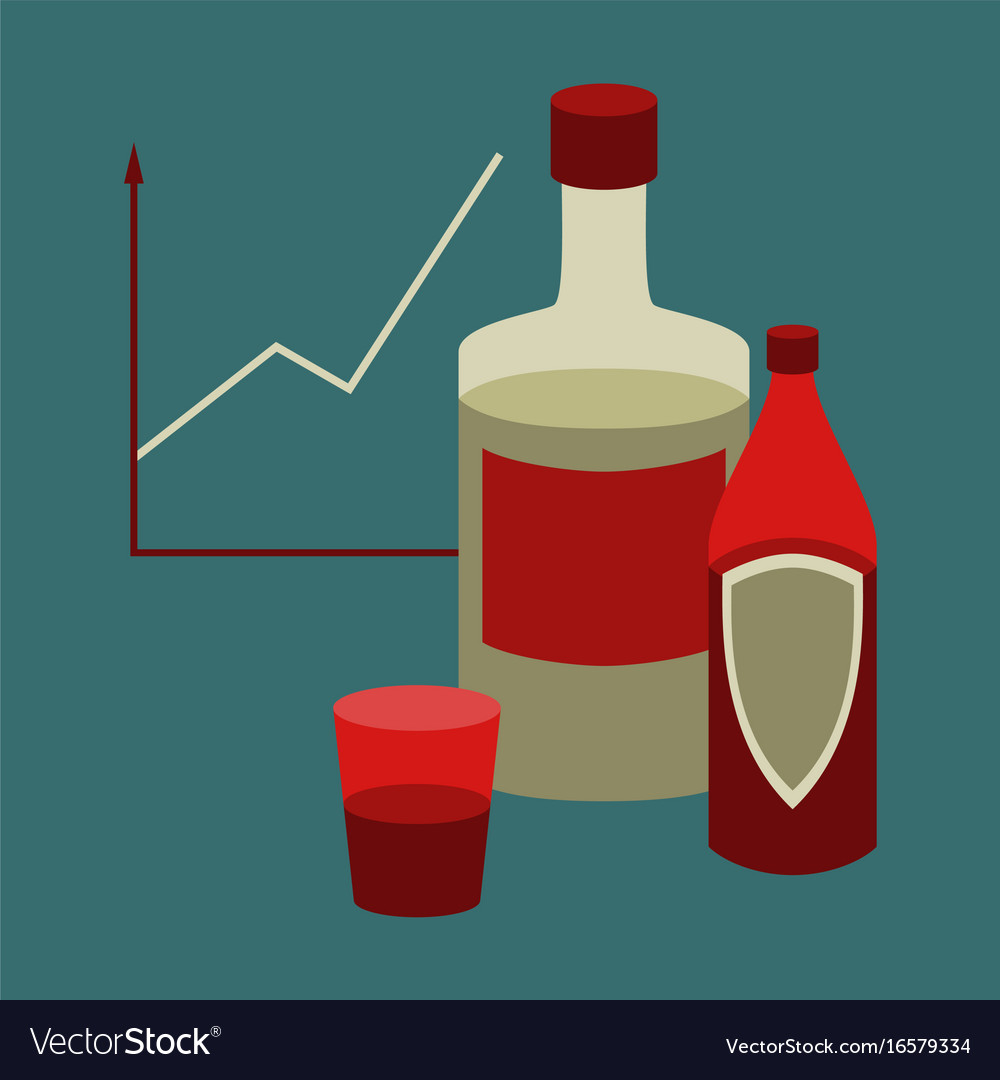 Flat icon on stylish background alcohol