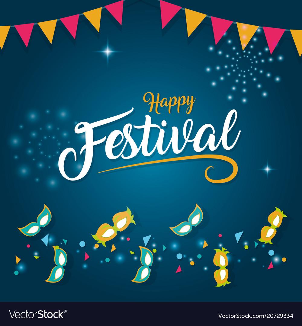 Happy festival card