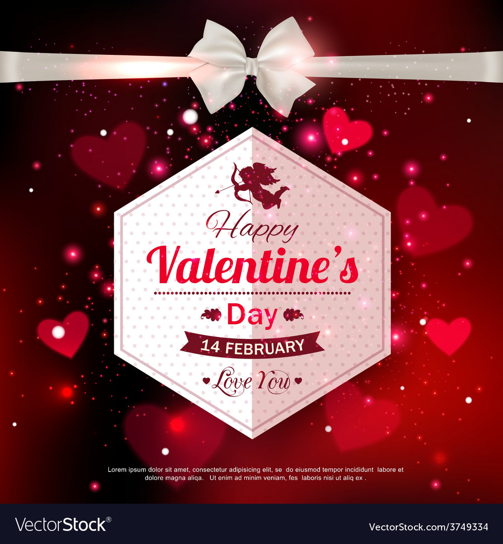 Happy Valentines day typographical glow holiday