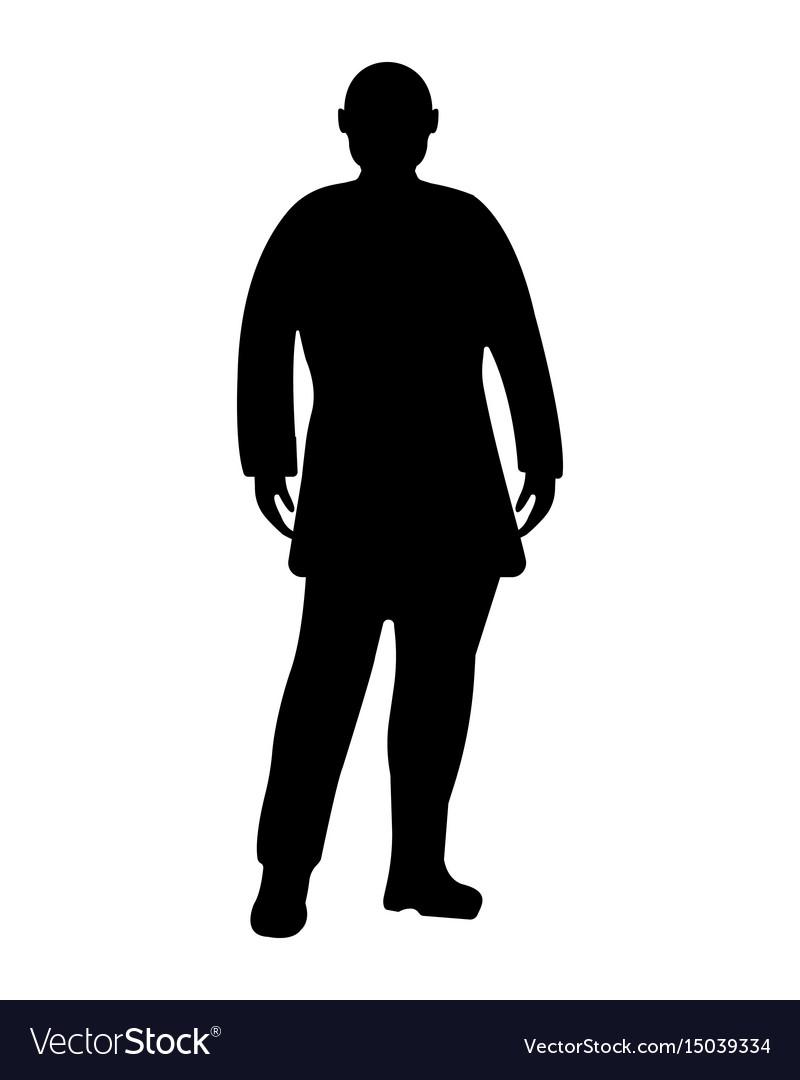 standing businessman silhouette cartoon royalty free - HD800×1080