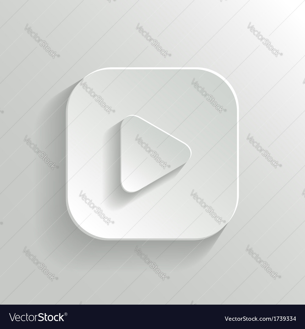 Play Icon Media Player Icon White App Button Vector Image