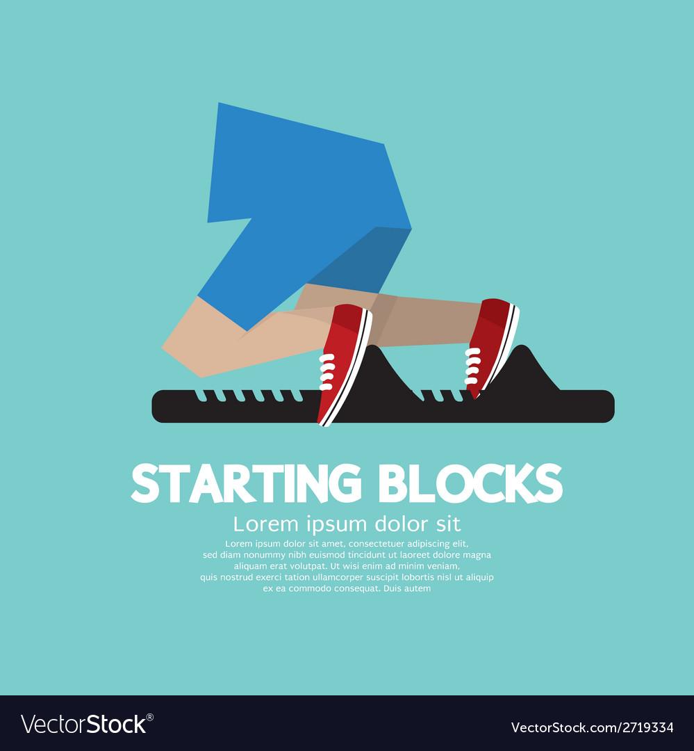 Running Starting Blocks vector image