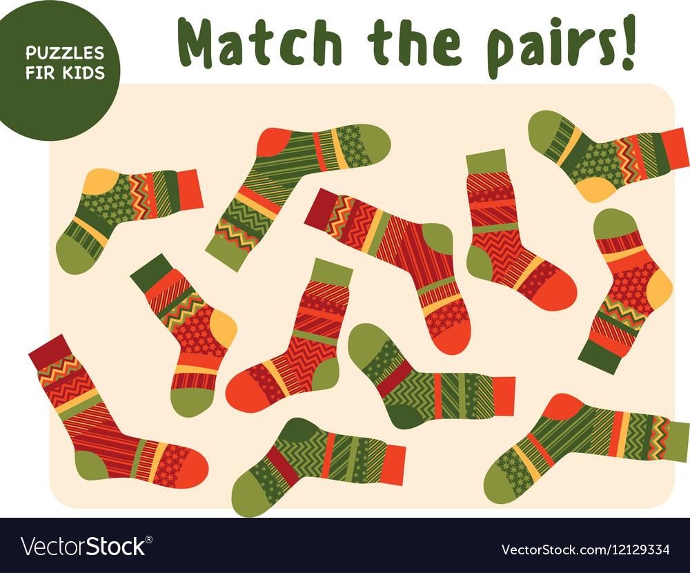 Set of cool warm striped socks Kid mind game in